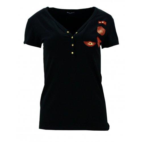 Bluzka bawełniana MILITARNA (czarna)