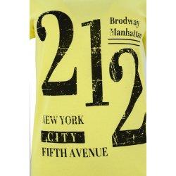 t-shirt damski z napisami 212 (żółta)
