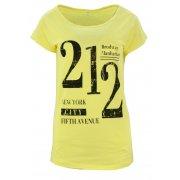Koszulka bawełniana z napisami 212 (żółta)