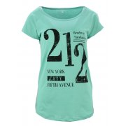 Koszulka bawełniana z napisami 212 (turkusowa)