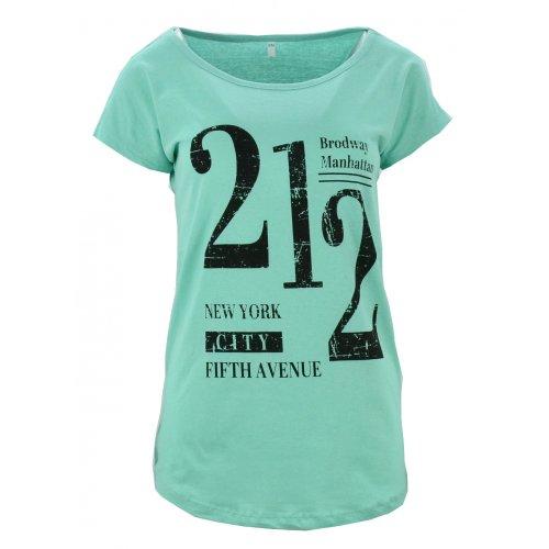 t-shirt damski z napisami 212 (turkusowa)