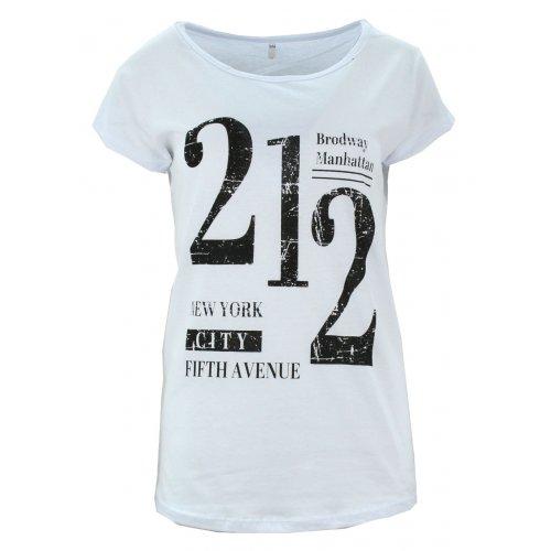 Koszulka bawełniana z napisami 212 (biała)