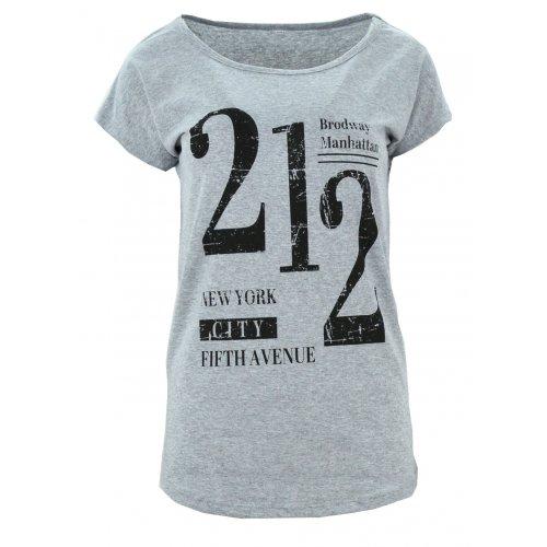 Koszulka bawełniana z napisami 212 (szara)