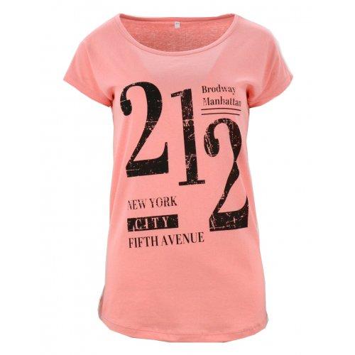 Koszulka bawełniana z napisami 212 (malinowa)