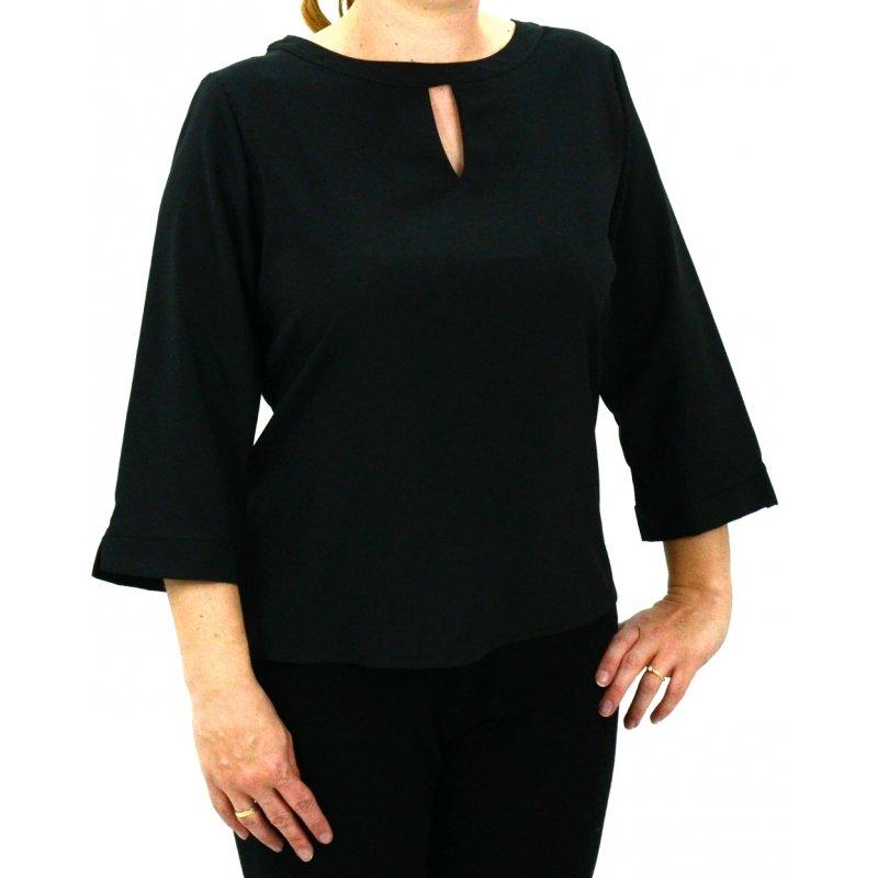 Bluzka/koszula z łezką na biuście (czarna)