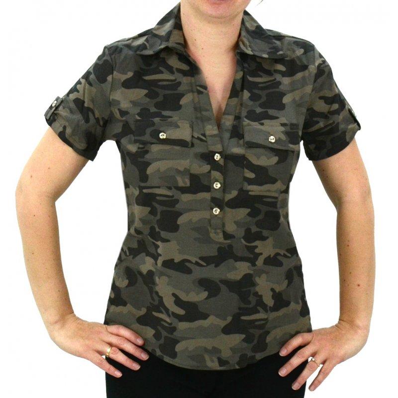 a80157b8e Koszula MORO z krótkim rękawem | eStilex.pl | Modna i tania odzież damska  online, pościel 3D, narzuty