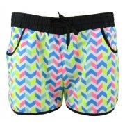 Kolorowe szorty plażowe zygzak (błękit)