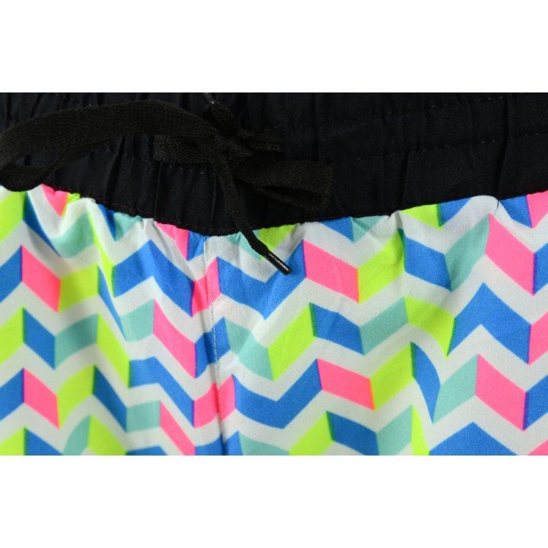 krótkie spodenki damskie szorty plażowe tanie (błękit)