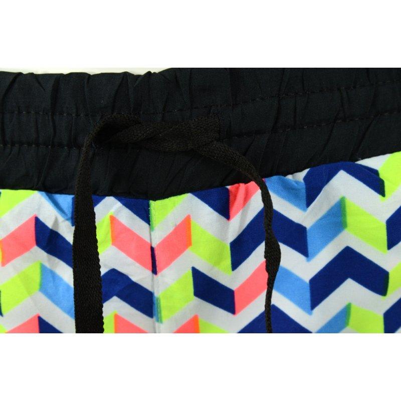 krótkie spodenki damskie szorty plażowe tanie (granat)