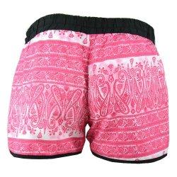 krótkie spodenki damskie szorty plażowe orient (różowe)
