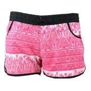 Kolorowe szorty plażowe orient (różowe)