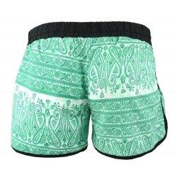 krótkie spodenki damskie szorty plażowe orient (zielone)