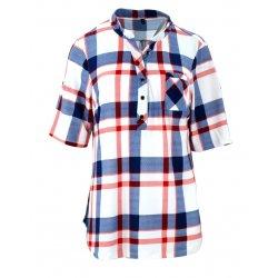 tanie bluzki koszule w kratę (czerwona)