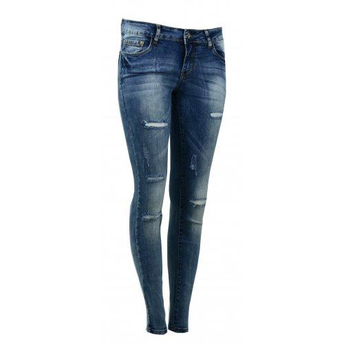 Spodnie jeansowe RURKI Z DZIURAMI