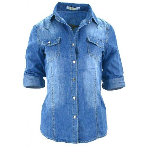 Klasyczna damska koszula jeansowa