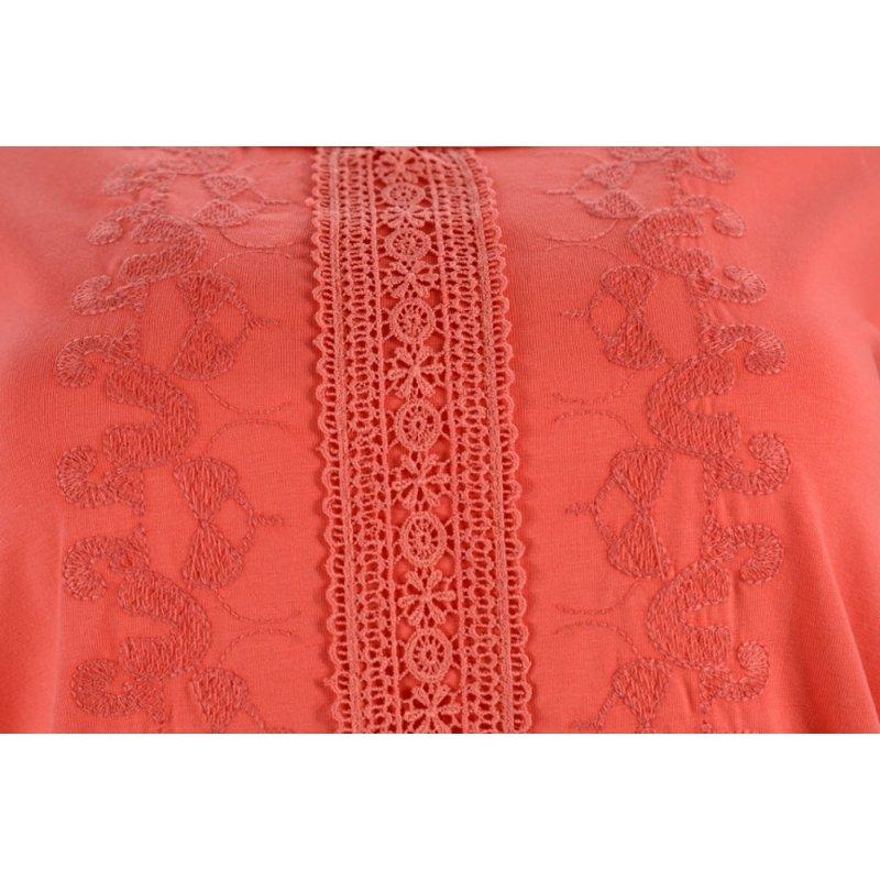 Koszulka bluzka damska z koronką (malinowa)