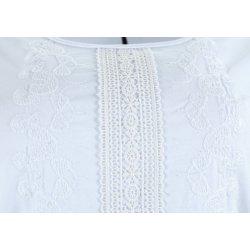 Koszulka bluzka damska z koronką (biała)