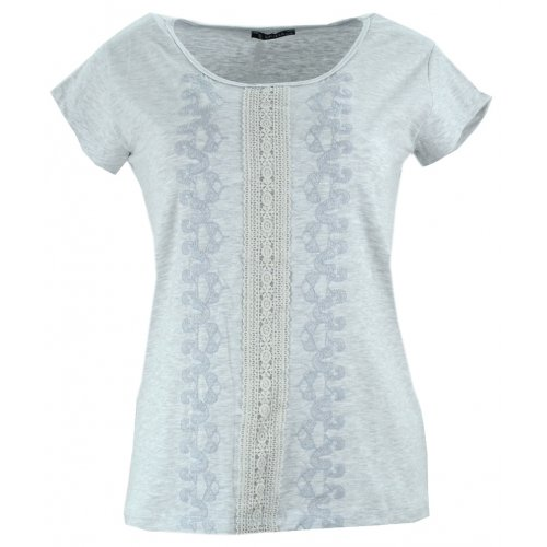 Bluzka koszulka damska z koronką (szara)