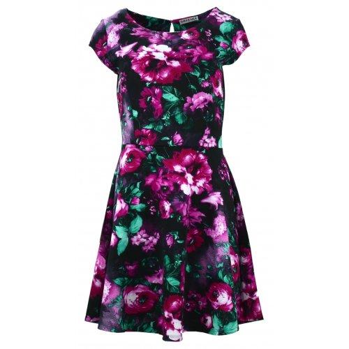 Sukienka w kwiaty (różowo zielona)