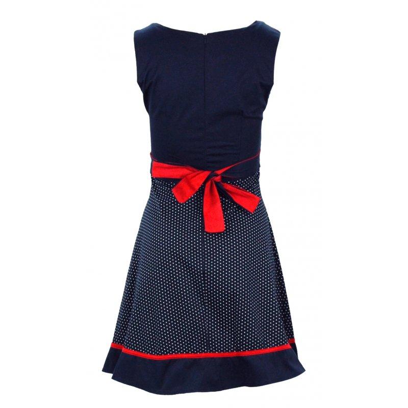 Sukienka z bawełny w groszki