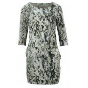 Sukienka z kieszeniami (szara)