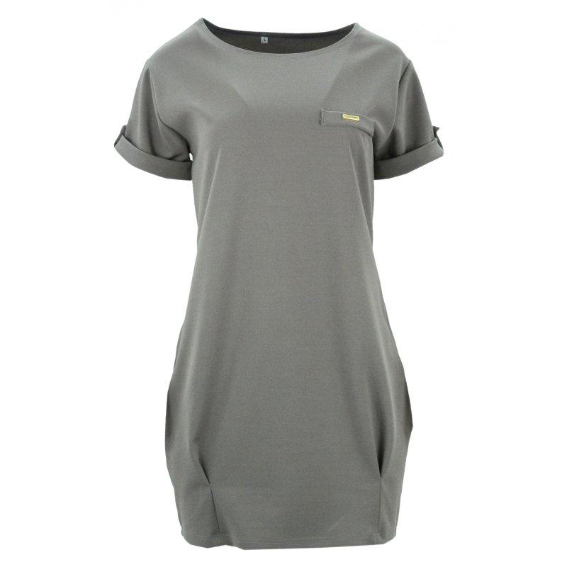Luźna sukienka (beżowa)