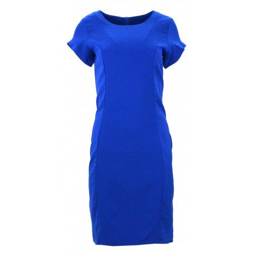 Ołówkowa sukienka (chabrowa)