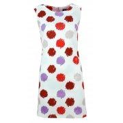 Sukienka w grochy (biało czerwona)