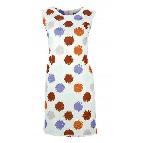 Sukienka w grochy (biało brązowa)