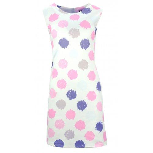 Sukienka w grochy (biało różowa)