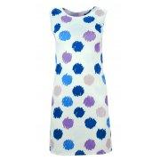 Sukienka w grochy (biały - jasno niebieski)