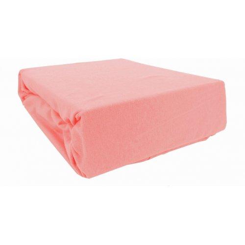 Prześcieradło bawełniane z gumką 200x220 Jersey 16 (różowe)