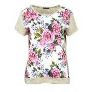 Bluzka w róże (beżowa)