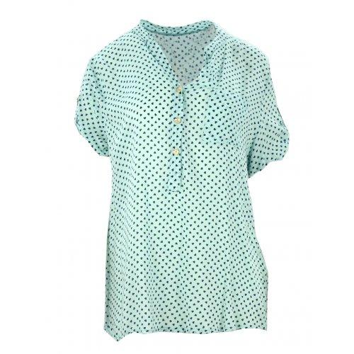 Luźna bluzka w serca (miętowa)