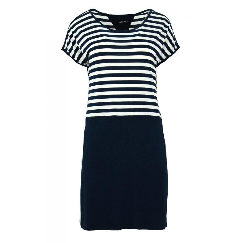 Sukienka w marynarskim stylu (granat)