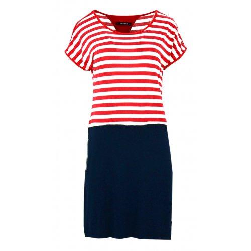 Sukienka w marynarskim stylu (czerwona)