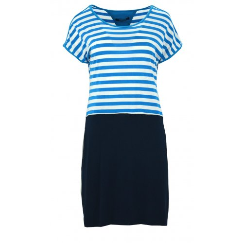 Sukienka w marynarskim stylu (turkusowa)