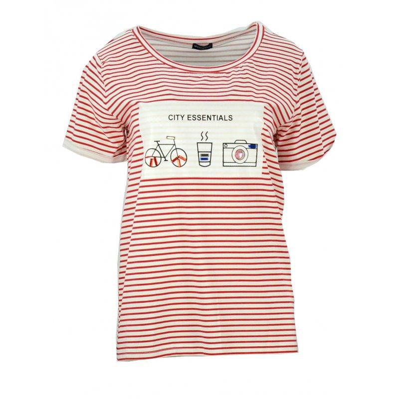Bluzka oversize w paski (czerwona)