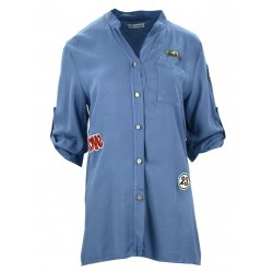 Militarna koszula/tunika (niebieska)