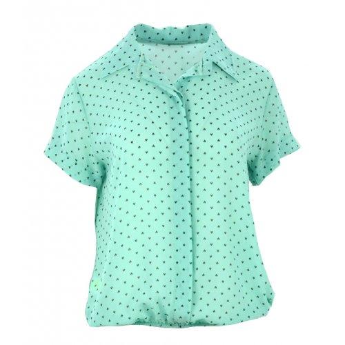 Bluzka szyfonowa z gumką (miętowa)