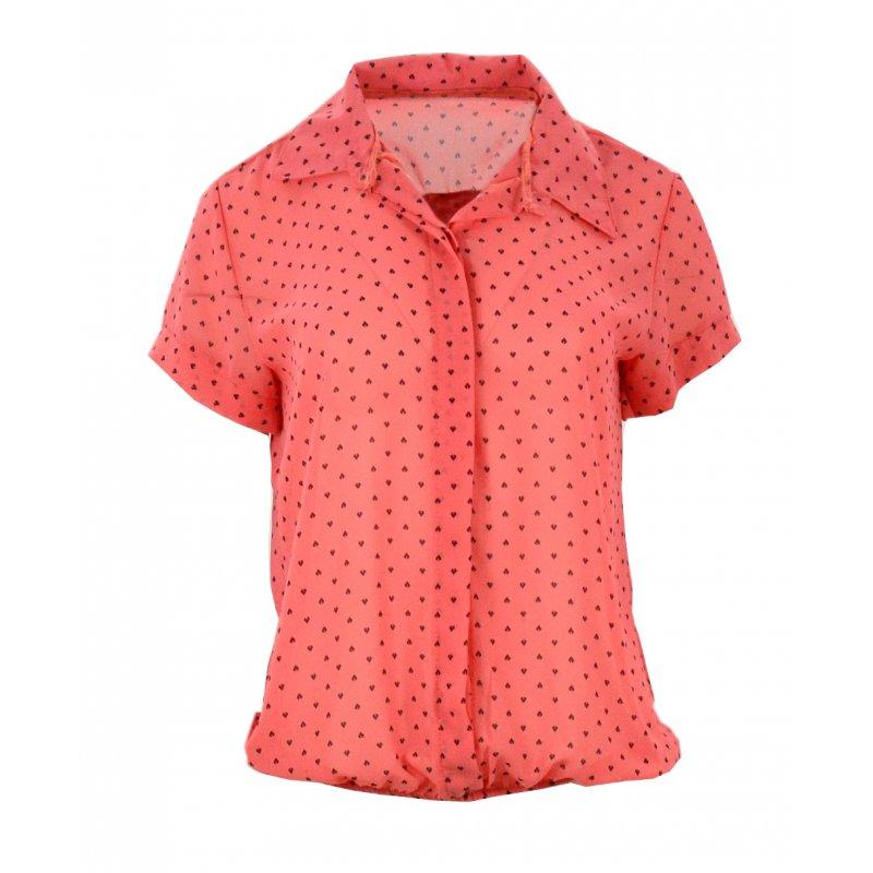 Bluzka szyfonowa z gumką (koralowa)