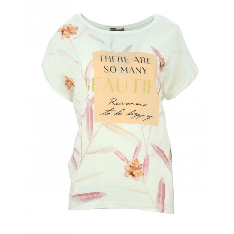 Bluzka szyfonowa w kwiaty (biała)