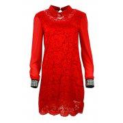 Sukienka z kołnierzem (czerwona)