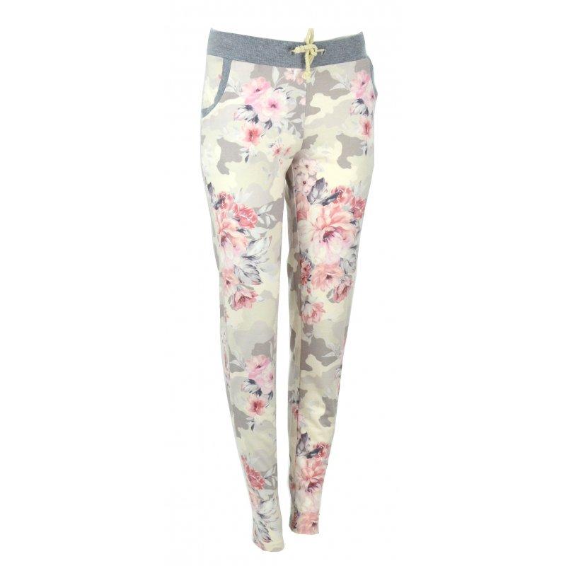 Spodnie dresowe w kwiaty (róż)