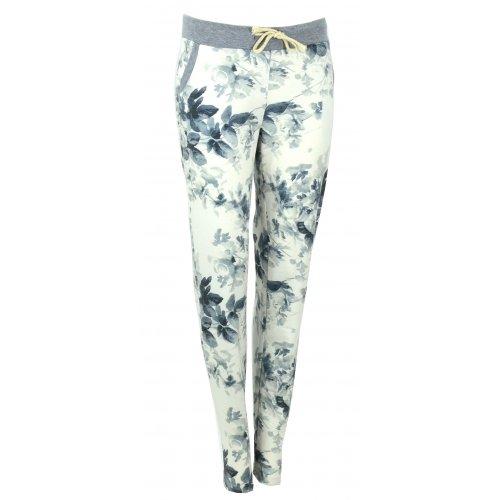 Spodnie dresowe w kwiaty (granat)