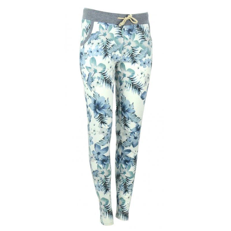 Spodnie dresowe w kwiaty (niebieskie)
