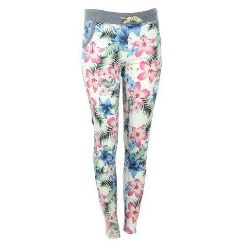 Spodnie dresowe w kwiaty (różowo niebieskie)