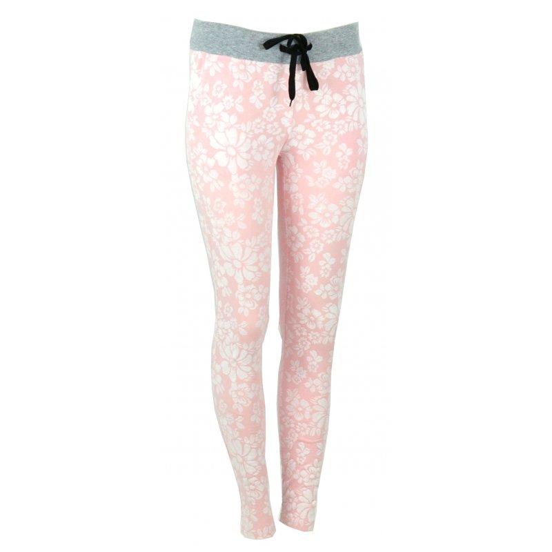 Spodnie dresowe w kwiaty (jasny róż)