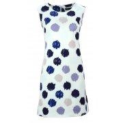 Sukienka w grochy (biało ciemno niebieski)