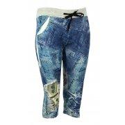 Rybaczki z nadrukiem jeans